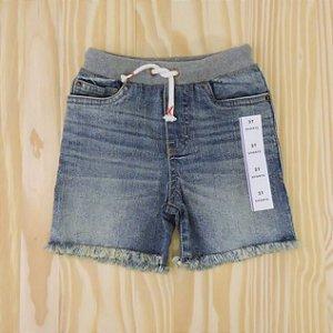 Shorts Jeans Azul Cós Moletom Infantil Cat & Jack