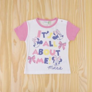Camiseta Branca Minnie Infantil Disney