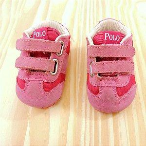 Tênis Rosa Infantil Polo Ralph Lauren
