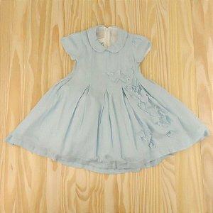 Vestido Azul Borboletas Infantil Silmara