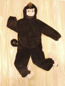 Fantasia Macaco Jorge Infantil Miniwear
