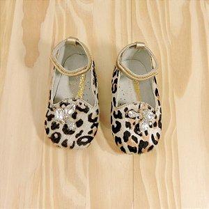Sapato Oncinha Pedrinhas Infantil Amoreco