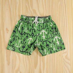 Bermuda Poliéster Verde Infantil Carter's