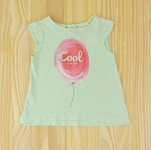Camiseta Verde Balão Cool Infantil Zara BabyGirl