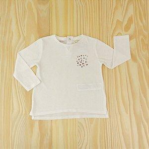 Camiseta Branca Bolsinho Infantil Zara BabyGirl