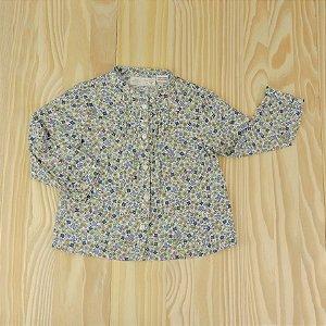 Camisa Florida Azul Infantil Zara BabyGirl