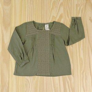 Camisa Bata Cinza Infantil Carter's