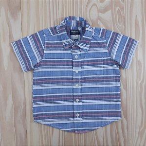 Camisa MC Azul, Branca e Vermelho Listras Oshkosh B'Gosh