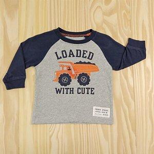 Camiseta Cinza e Azul Marinho Infantil Carter's