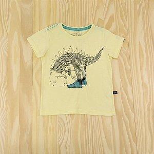Camiseta Amarela Dinossauro Infantil Baby Club