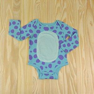 Body Azul e Lilás Infantil Disney