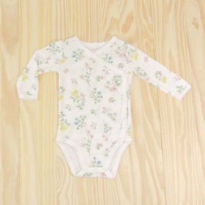 Body Branco Florido Infantil Carter's