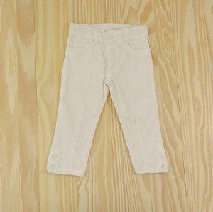 Calça Veludo Branca Cintura Ajustável Infantil Baby Gap