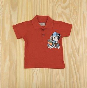 Camiseta Gola Polo Vermelha Infantil Tigor T. Tigre