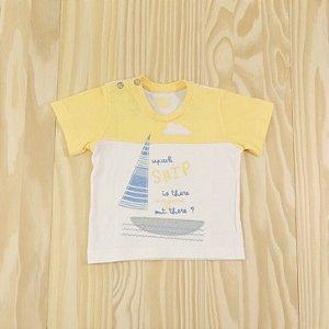 Camiseta Amarela Infantil Upi Uli