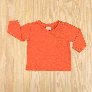 Camiseta Manga Longa Coral Infantil Clube do Dino