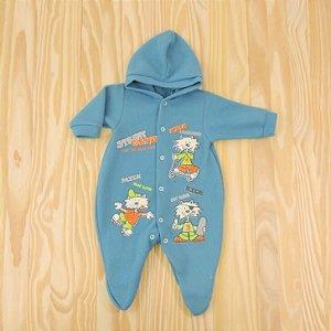 Macacão Azul Petróleo Micro Soft Infantil Sanny Baby