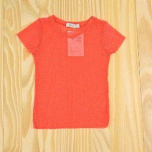 Camiseta Tule Pink Poá Infantil Tyrol