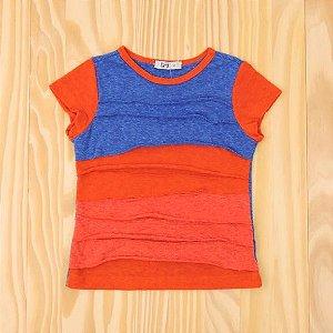 Camiseta Laranja e Azul Infantil Tyrol