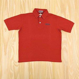 Camiseta Gola Polo Vermelha Infantil Milk