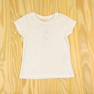 Camiseta Off White Rendinha Infantil Zara BabyGirl