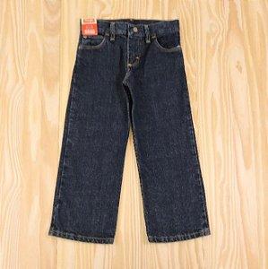 Calça Jeans Azul Escuro Cintura Ajustável Infantil Wrangler