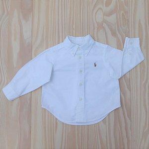 Camisa ML Branca  Ralph Lauren