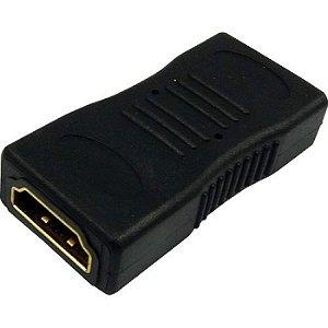 ADAPTADOR HDMI FÊMEA X HDMI FÊMEA EMENDA GOLD GENERICA BOX