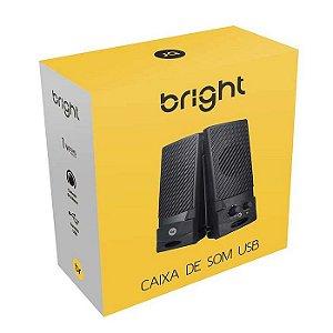 CAIXA DE SOM P2 0058 COM ALIMENTACAO USB BRIGHT BOX