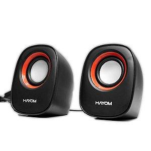 CAIXA DE SOM P2 KM 2500 MULTIMIDIA COM ALIMENTACAO USB HAYOM BOX