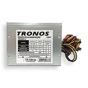 FONTE ATX 200W 20/24 PINOS TRS-230V1.2 2* SATA 2* IDE TRONOS OEM