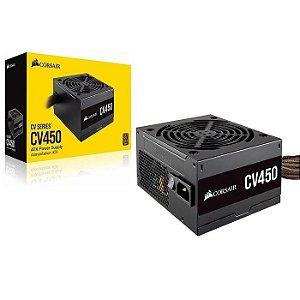 FONTE ATX 450W CV450 CP-9020209-BR 80 PLUS - BRONZE CORSAIR BOX