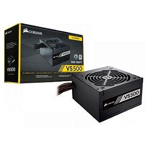 FONTE ATX 500W REAL 20/24 PINOS CP-9020223-BR 80 PLUS WHITE CORSAIR BOX
