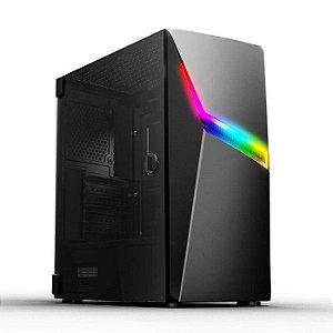 GABINETE GAMER CGAX3 C/ LED RGB LATERAL EM VIDRO TEMPERADO PIXXO BOX