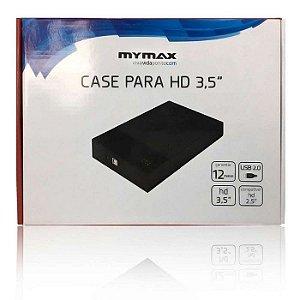 GAVETA PARA HD 3,5 MENC-35TU2/BK SATA USB 2.0 PRETO MYMAX BOX