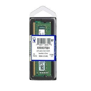 MEMORIA 4GB DDR4 2400 MHZ NOTEBOOK KVR24S17S8/4 KINGSTON OEM