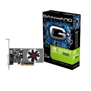 PLACA DE VIDEO 2GB GT1030 NEC103000646-1082F DDR4 64 BITS GAINWARD BOX