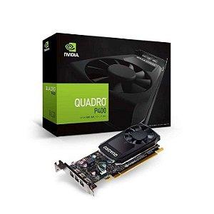 PLACA DE VIDEO 2GB PCIEXP QUADRO P400 VCQP400V2PB GDDR5 GEFORCE 3* DP PNY BOX
