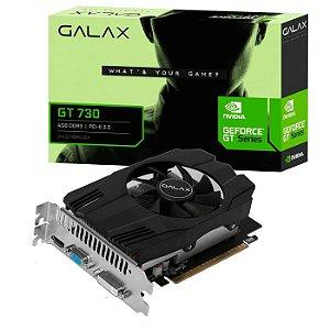 PLACA DE VIDEO 4GB PCIEXP GT730 73GQS4HX00WG 64BITS DDR3 GALAX BOX