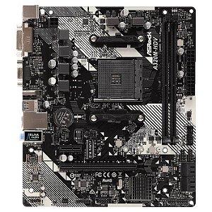 PLACA MAE AM4 MICRO ATX A320M-HDV R4.0 DDR4 VGA/HDMI/DVI-D USB 3.0 ASROCK BOX