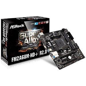 PLACA MAE FM2 MICRO ATX FM2A68M-HD R2.0 DDR3 ASROCK BOX