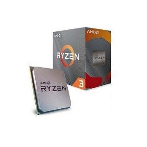PROCESSADOR AM4 RYZEN 3 3100 3.6GHZ (3.9GHZ TURBO) 18MB CACHE 100-100000284BOX AMD BOX