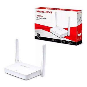 ROTEADOR WIRELESS MW301R 300 MBPS 1 PORTA WAN 2 LAN 2 ANTENAS MERCUSYS BOX