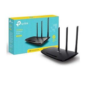 ROTEADOR WIRELESS TL-WR940N V.6 450 MBPS 3 ANTENAS 1 PORTA WAN 4 LAN TP-LINK BOX
