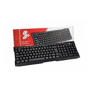 TECLADO USB 015-0041 ABNT2 OFFICE PRETO 5+ BOX