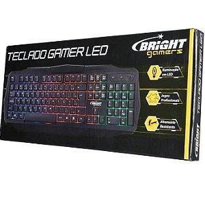 TECLADO USB 0464 GAMER LUMINOSO RGB BRIGHT BOX