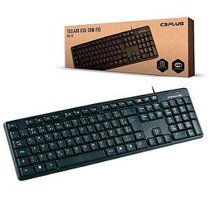 TECLADO USB KB-15BK 107 TECLAS PRETO C3PLUS BOX