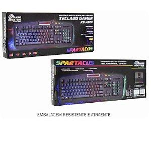 TECLADO USB KBA328U SPARTACUS GAMER RGB K-MEX BOX