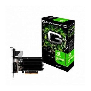 PLACA DE VIDEO 2GB GT 710 NEAT7100HD46-2080H DDR3 64 BITS GEFORCE VGA HDMI DVI-D GAINWARD BOX