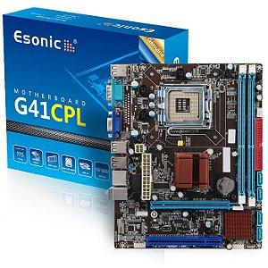 PLACA MAE 775 MICRO ATX G41CPL3 DDR3 VGA ESONIC BOX